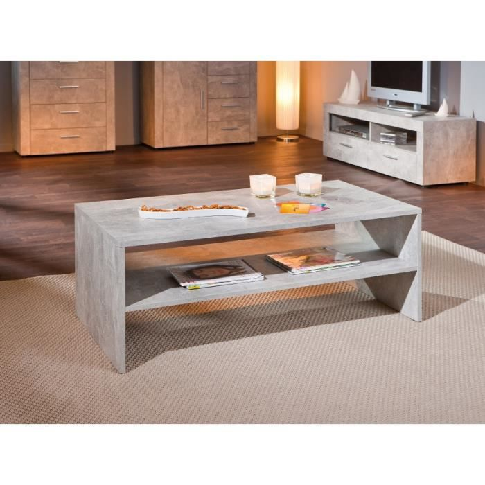 table basse beton clair achat vente table basse table. Black Bedroom Furniture Sets. Home Design Ideas