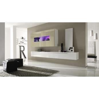 Ensemble meuble tv blanc et ivoire laqu design noceto avec achat vente m - Meubles blanc d ivoire ...