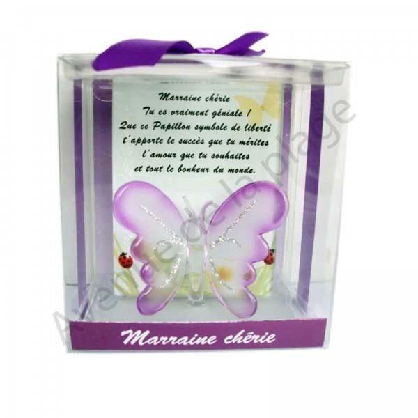 figurine papillon porte bonheur marraine ch rie achat. Black Bedroom Furniture Sets. Home Design Ideas