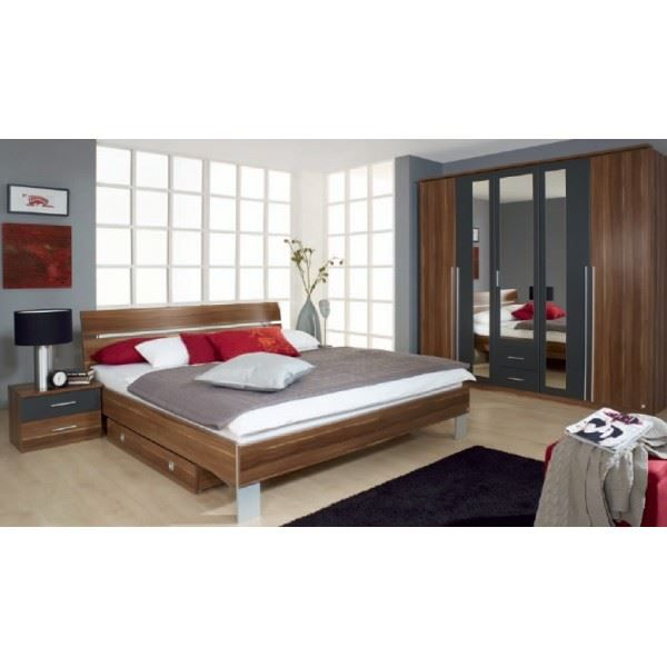 Chambre adulte compl te nathalia coloris noyer achat for Chambre complet adulte