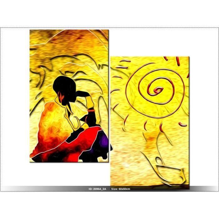 tableau femme africain achat vente tableau femme africain pas cher cdiscount. Black Bedroom Furniture Sets. Home Design Ideas
