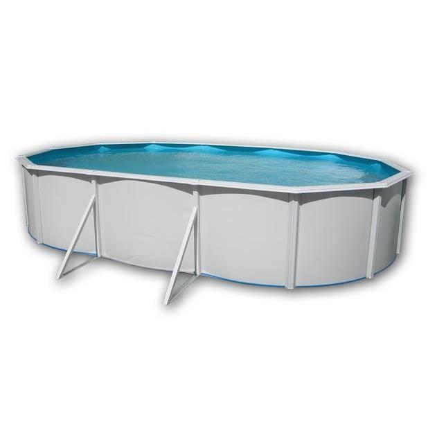 Mallorca piscine en acier ovale 640x366x120 achat for Piscine acier grise