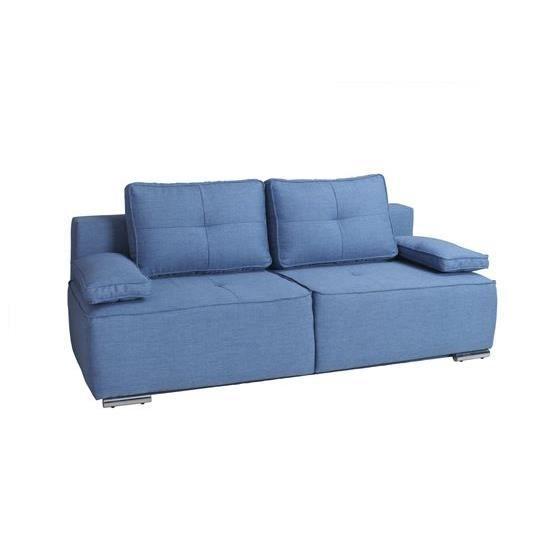 canap convertible eliana bleu achat vente canap. Black Bedroom Furniture Sets. Home Design Ideas