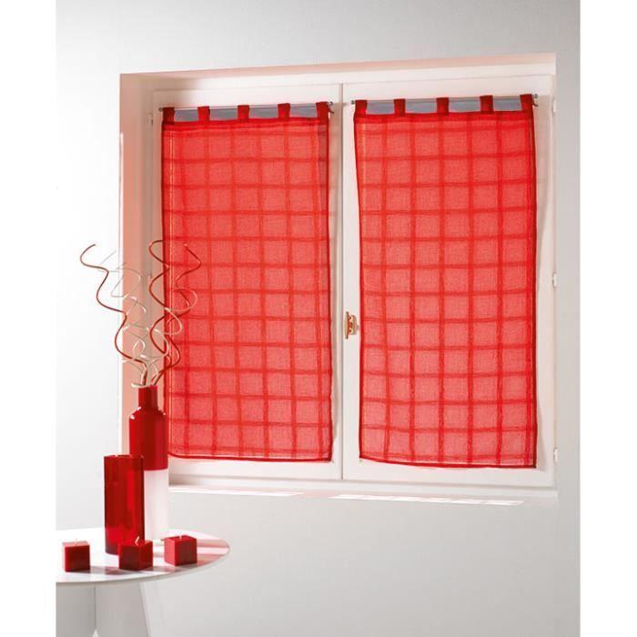 paire droite 60x160 candide voile sabl rouge achat vente voilage cdiscount. Black Bedroom Furniture Sets. Home Design Ideas