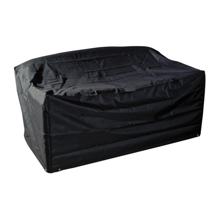 Housse modulaire sofa 2 places 160 x 94 x 69 cm achat vente housse meuble jardin housse for Housse de sofa