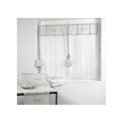 paire de vitrage 39 maison contemporaine 39 70 x 120cm achat vente rideau voilage cdiscount. Black Bedroom Furniture Sets. Home Design Ideas