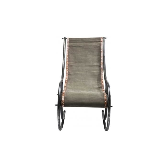 Fauteuil rocking chair lodge canvas kare design achat - Fauteuil rocking chair design ...