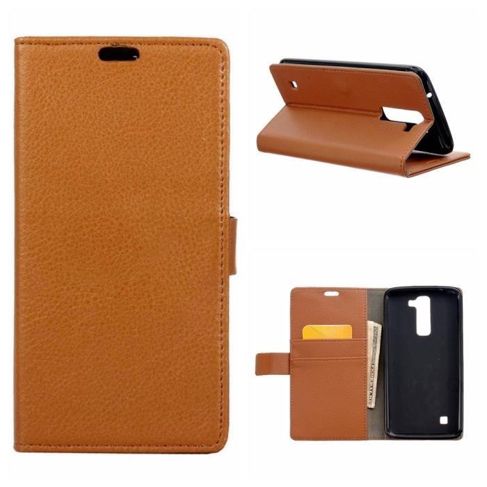 Housse en cuir flip cover folio tui de protection pour lg - Housse pour canape cuir ...