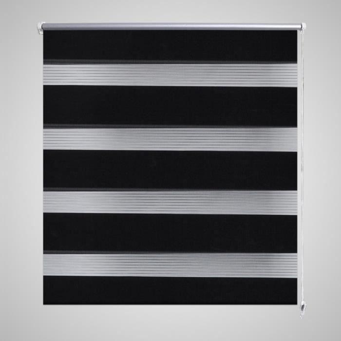 store enrouleur tamisant 90 x 150 cm noir achat vente store de fen tre tissu aluminium 100. Black Bedroom Furniture Sets. Home Design Ideas