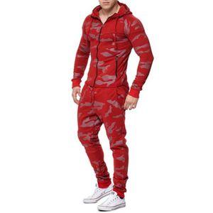 SURVÊTEMENT DE SPORT Ensemble survêtement jogging camouflage rouge