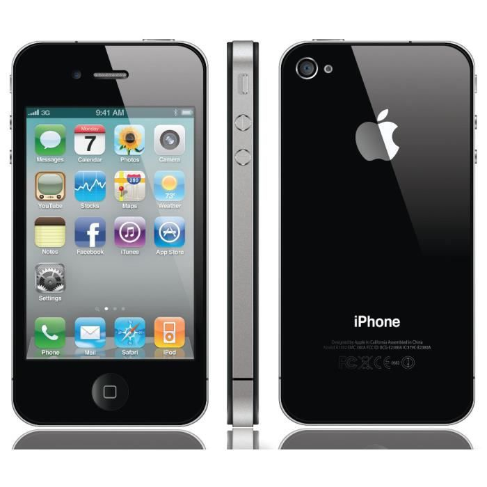 iphone 4s 32gb noir reconditionn neuf smartphone. Black Bedroom Furniture Sets. Home Design Ideas