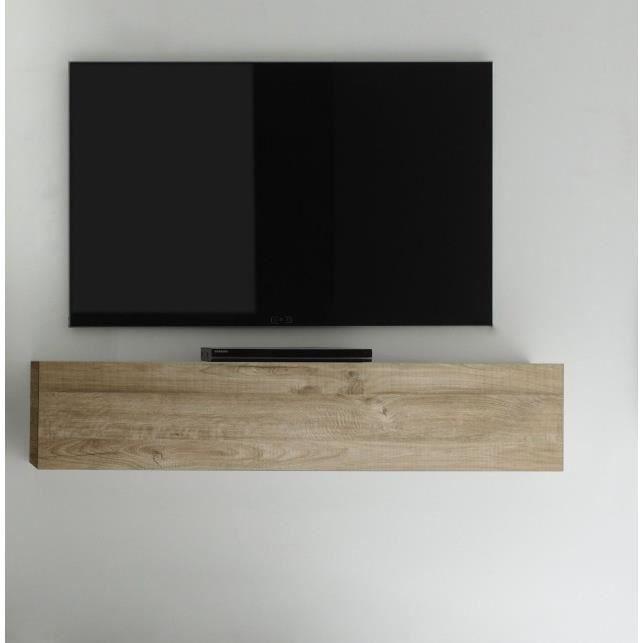 Meuble horizontal suspendu bois miel new box meuble - Meuble de rangement suspendu ...