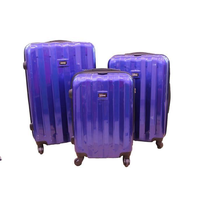 Bagage icepak lot de 3 valise rigide tsa bleu achat - Lot de valise ...