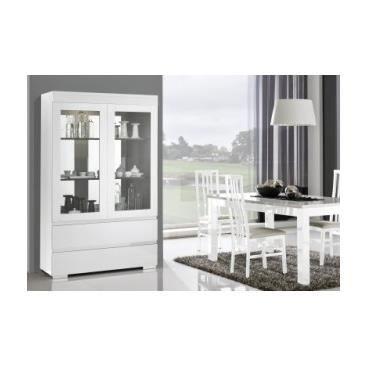 Meuble vitrine design en verre pour collection laqu e golana achat vente vitrine argentier - Meuble vitrine pour collection ...