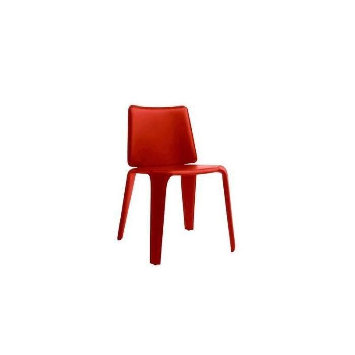 Chaise design et tendance en cuir pedrali mood noir achat vente chaise - Chaises design en soldes ...