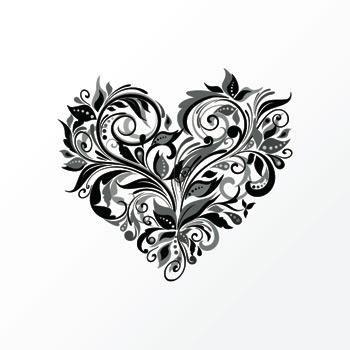Tatouage coeur de fleurs achat vente tatoo bijou de corps tatouage - Coeur avec des fleurs ...