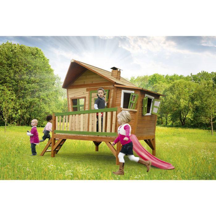 Axi maisonnette enfant cabane en bois emma achat vente for Maisonnette smoby occasion