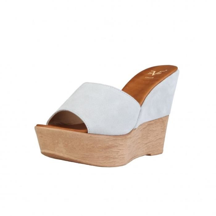 chaussures compens es pour femme versace 1969 blanc blanc. Black Bedroom Furniture Sets. Home Design Ideas