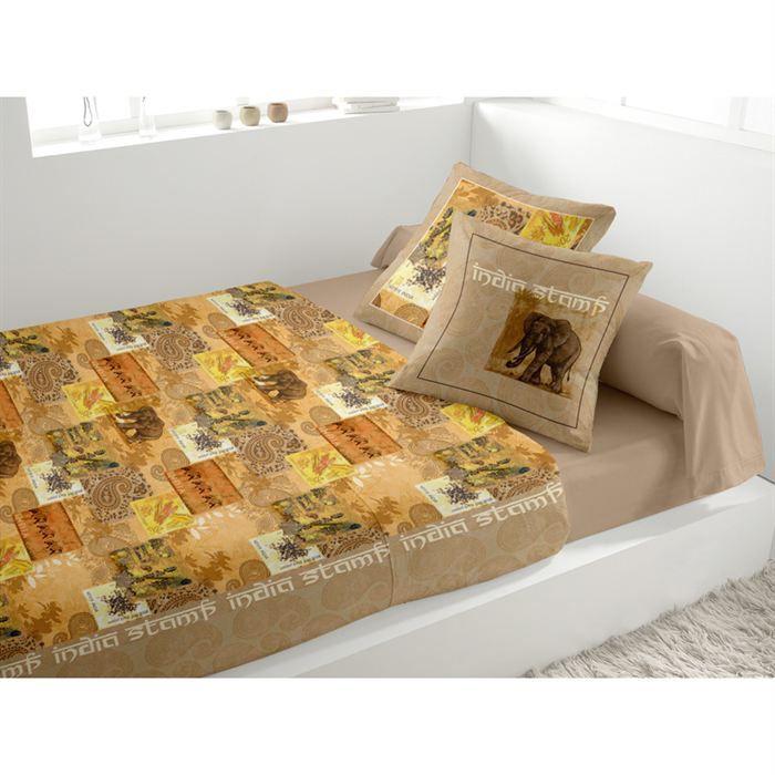 parure de lit india orange achat vente parure de lit cdiscount. Black Bedroom Furniture Sets. Home Design Ideas