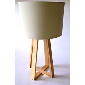 pied de lampe bois achat vente pied de lampe bois pas cher les soldes sur cdiscount. Black Bedroom Furniture Sets. Home Design Ideas