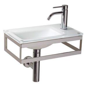 lave main avec porte serviette achat vente lave main avec porte serviette pas cher soldes. Black Bedroom Furniture Sets. Home Design Ideas