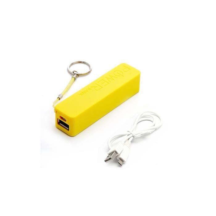 batterie externe 2600mah pour iphone 5s powerbank jaune. Black Bedroom Furniture Sets. Home Design Ideas