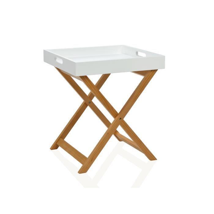 Table basse carr e bois naturel achat vente table - Table basse carree bois ...