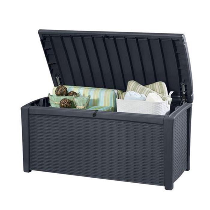 coffres de rangement coffre de jardin borneo keter 17197731 achat vente coffre d 39 ext rieur. Black Bedroom Furniture Sets. Home Design Ideas