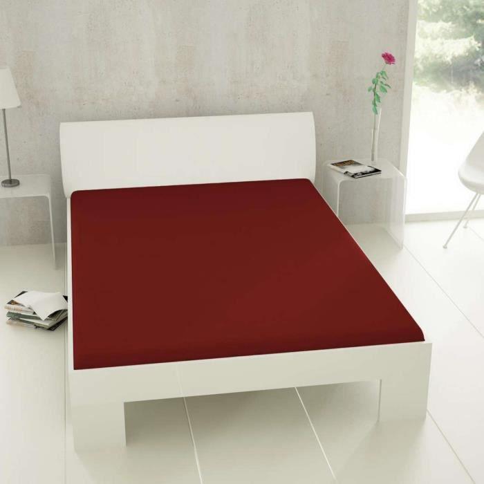 et ea matelas d 39 eau drap housse 90x200 100x220 cm bordeaux achat vente drap housse cdiscount. Black Bedroom Furniture Sets. Home Design Ideas