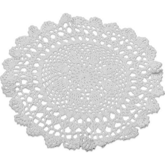 Napperon Crochet Blanc 30cm Achat Vente D Cors De Table Cdiscount
