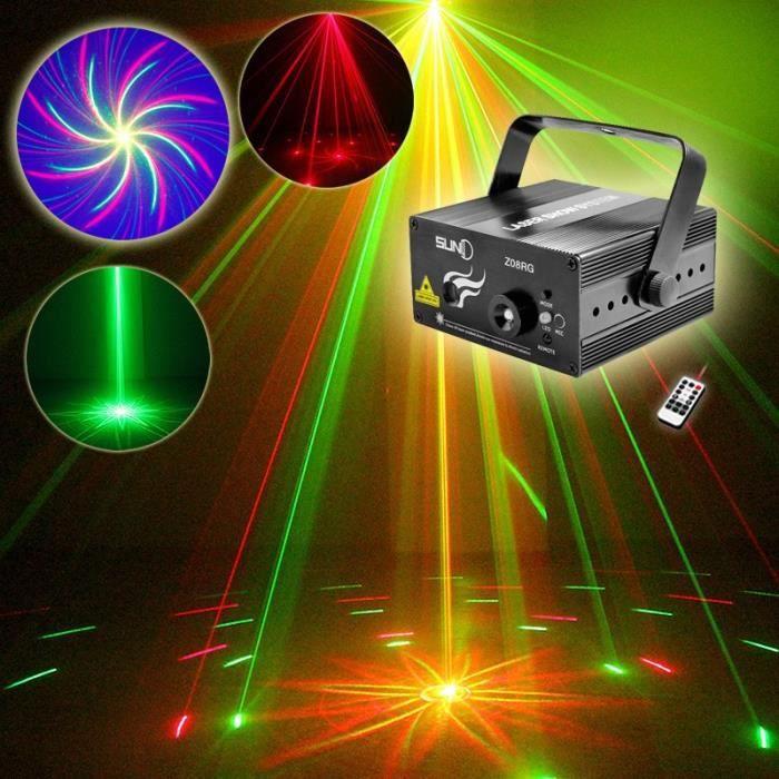 Club de no l led rg 8 motif dj projecteur laser mini stage for Projecteur motif noel