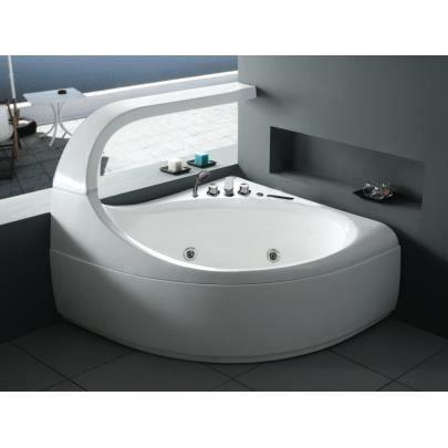 Baignoire baln o d 39 angle design ellipse 2 places achat vente baigno - Baignoire d angle design ...