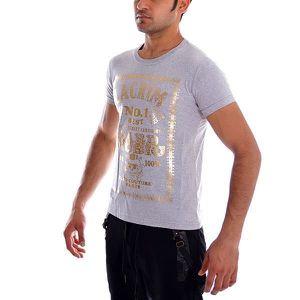 Tshirt La Crim bandana gris typo or