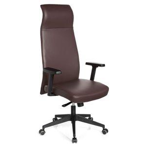 fauteuil de bureau en cuir marron achat vente fauteuil de bureau en cuir marron pas cher. Black Bedroom Furniture Sets. Home Design Ideas