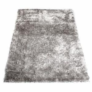 Tapis shaggy descente de lit achat vente tapis shaggy descente de lit pas - Tapis shaggy gris argent ...