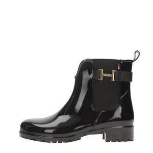 chaussures femme bottines boots lf  tommy hilfiger