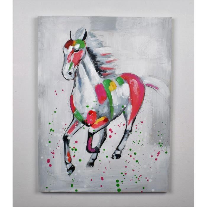 Tableau toile chevaux achat vente tableau toile chevaux pas cher les so - Toile tableau pas cher ...