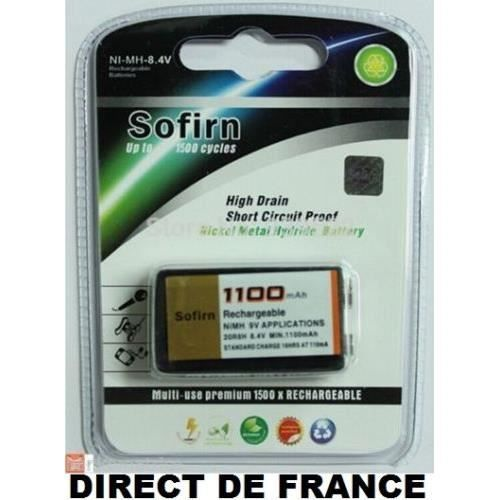 Pile batterie sofirn rechargeable 9v ni mh 1100mah super - Pile 9v rechargeable ...
