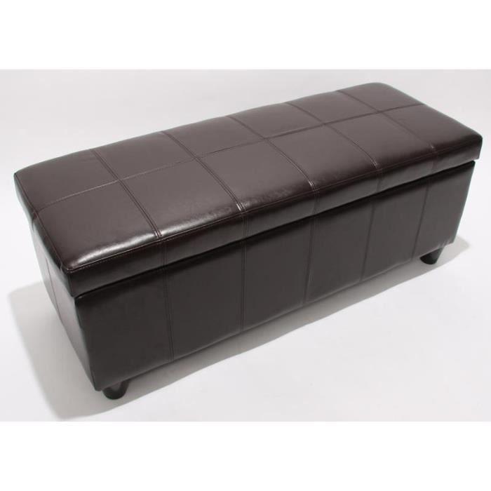 Banquette avec coffre de rangement marron achat vente banquette cdiscount - Coffre rangement avec assise ...