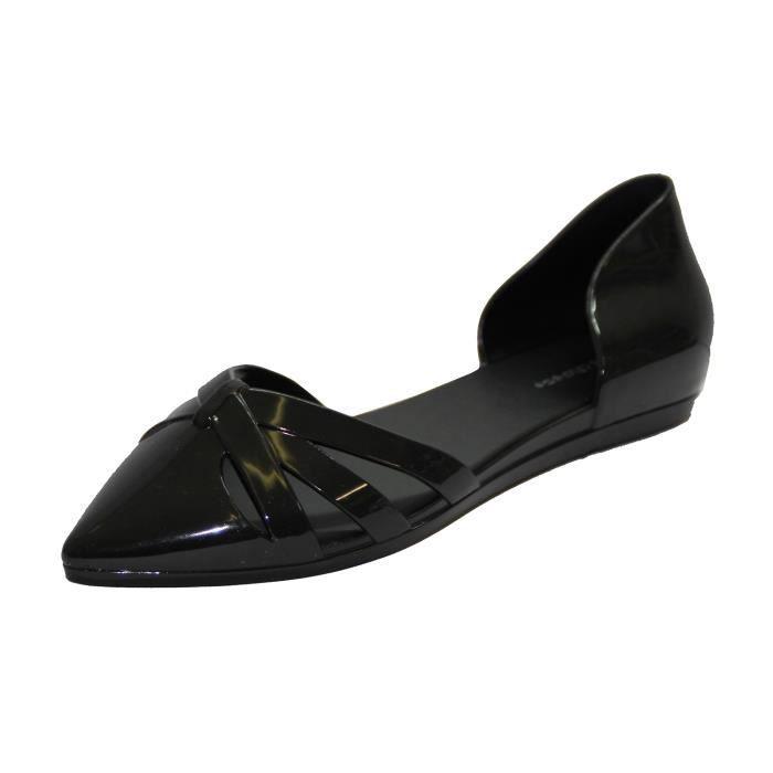 chaussure plate d 39 t bout pointu en plastique jal noir. Black Bedroom Furniture Sets. Home Design Ideas