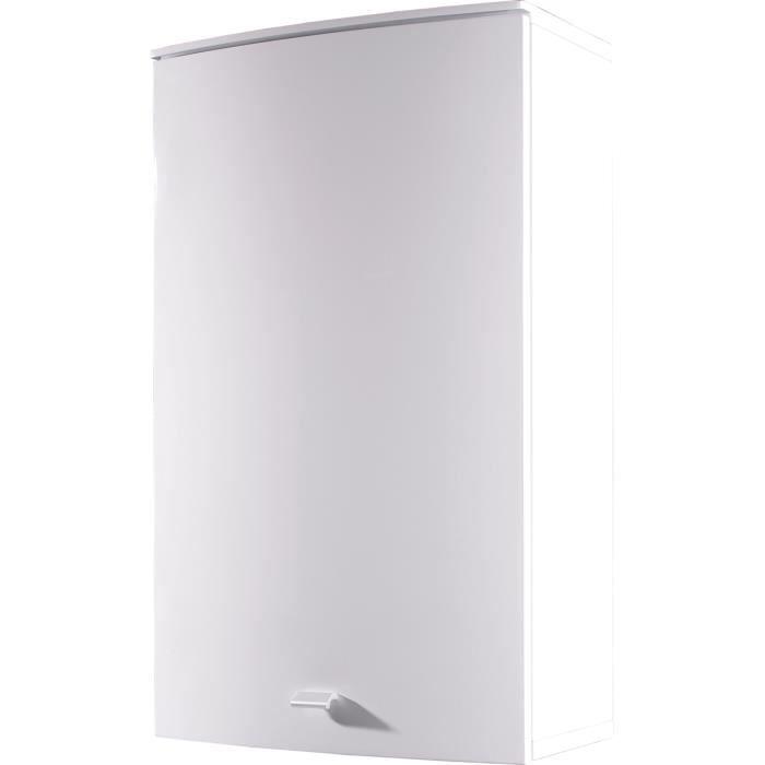 armoire suspendu avec porte coloris blanc l45 achat vente armoire de toilette armoire. Black Bedroom Furniture Sets. Home Design Ideas