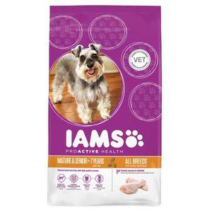IAMS Croquettes au poulet - Toutes races - 3kg - Pour chien senior