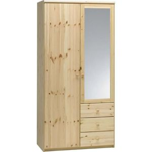Armoire pin achat vente armoire pin pas cher cdiscount for Armoire pin massif porte coulissante
