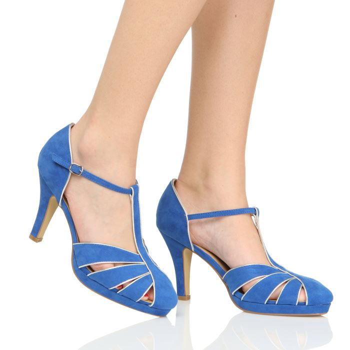initiale paris escarpins vevita femme femme bleu achat vente initiale paris escarpins femme. Black Bedroom Furniture Sets. Home Design Ideas