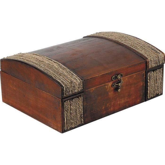 coffret de rangement corsaire en bois et corde achat. Black Bedroom Furniture Sets. Home Design Ideas