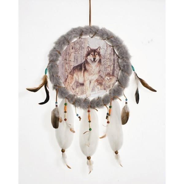 attrape r ves loups dans la for t achat vente objet d coration murale cdiscount. Black Bedroom Furniture Sets. Home Design Ideas