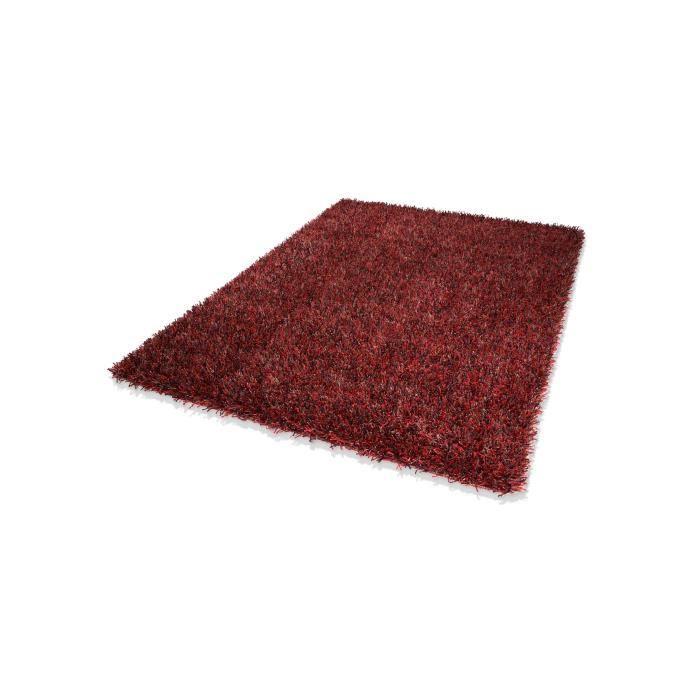 Dekowe tapis a poils longs corado rouge 60x130 cm achat for Tapis rouge avec canapé 145 cm