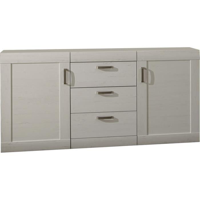 bahut moderne coloris pin blanc achat vente buffet bahut bahut moderne coloris pin b. Black Bedroom Furniture Sets. Home Design Ideas