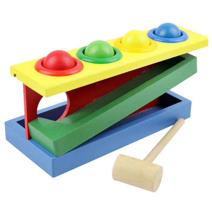 jouets en bois color ball striking table enfants jouets de jeux de main achat vente jeu d. Black Bedroom Furniture Sets. Home Design Ideas