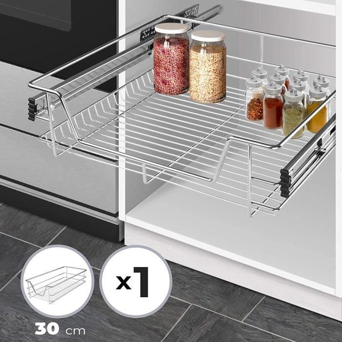Tiroir de cuisine krgl03 rails inclus 30 cm achat for Tiroir coulissant pour meuble cuisine